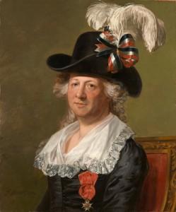 Retrato do Chevalier d'Eon transvestido por Thomas Stewart, de 1792, até recentemente considerada uma pintura de uma mulher por Gilbert Stuart