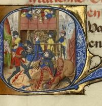 Capitular Q: Hertan em uma batalha ferrenha com o campeão do rei Haldin  In idem