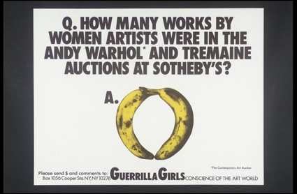 Guerrilla Girls, [no title] 1985-90. © www.guerrillagirls.com. Imagem: cortesia da Tate