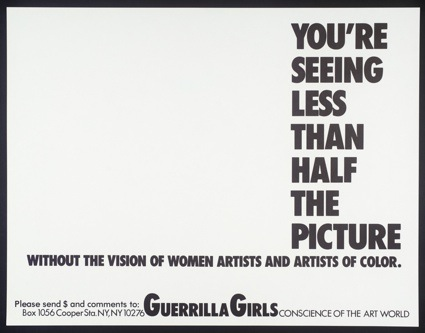 Guerrilla Girls, [no title] 1985-90. © courtesy www.guerrillagirls.com. Imagem: cortesia da Tate