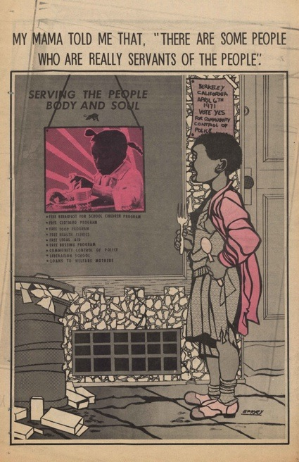 Emory Douglas, Supplement to The Black Panther, 10-04-1971 1971. © DACS, Londres 2013. Foto: IISG BG D18/246, International Institute of Social History (Amsterdão)