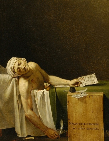 Jacques Louis David e Studio, A Morte de Marat, 1793