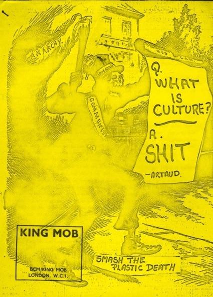 Capa de uma publicação anti-cultural da King Mob. Cortesia do Tate Archive © Tate. Foto: Rod Tidnam